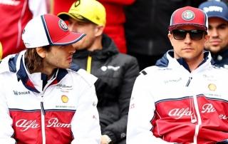 Giovinazzi admite que su debut en F1 fue difícil al tener a Raikkonen como compañero