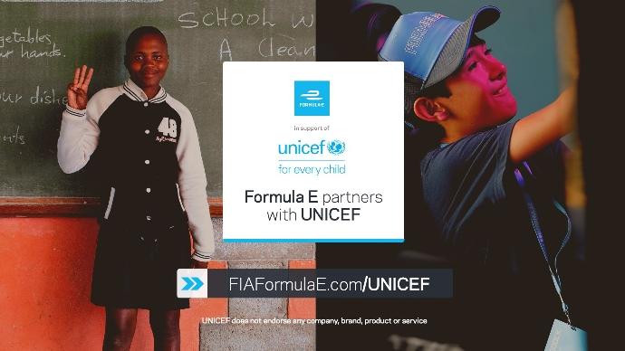 La Fórmula E y UNICEF juntos contra el COVID-19