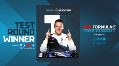 #RaceAtHome: Günther gana el 'test round' en Mónaco