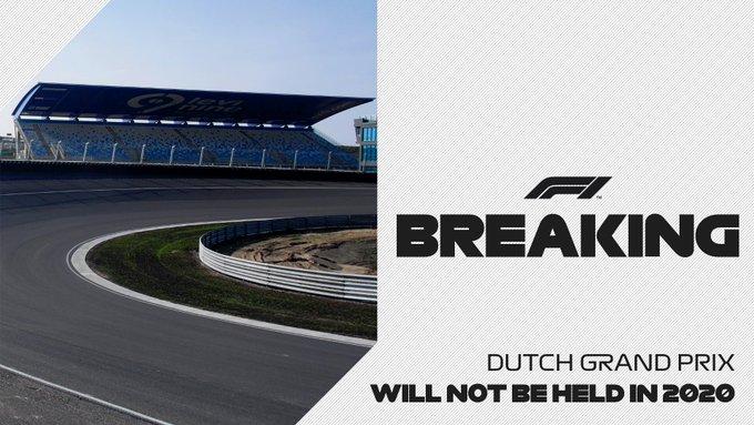 El Gran Premio de Holanda se pospone hasta 2021
