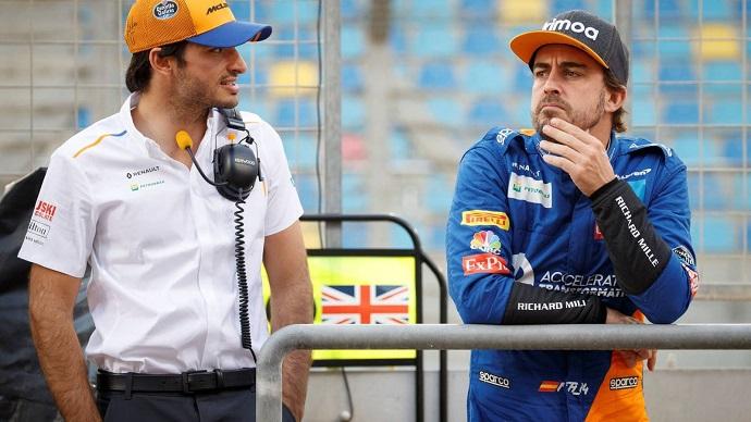 """Sainz, sobre Alonso: """"Me encantaría poder competir de nuevo con él"""""""