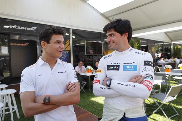Sainz y Norris hablan antes del regreso de la Fórmula 1 en Austria