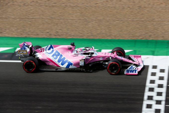 Sábado en Gran Bretaña - Racing Point: Nico consigue la tercera posición