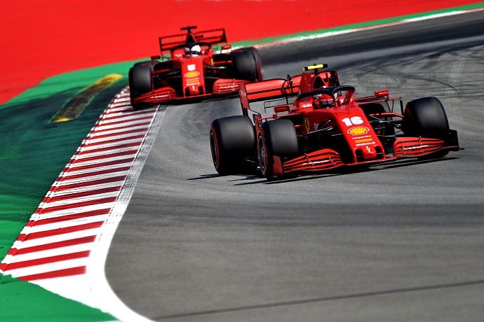 Sábado en España - Ferrari vuelve a decepcionar; Leclerc es 9º y Vettel se queda en Q2 por dos milésimas