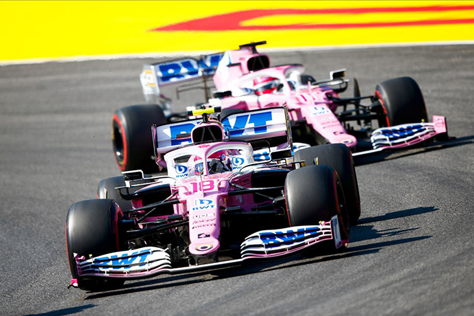 Domingo en La Toscana - Racing Point: Stroll se pierde el podium y Checo suma para los rosas