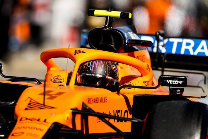 Domingo en Eifel - McLaren: Sainz aguanta el tipo y avanza hasta el quinto puesto; Norris se retira