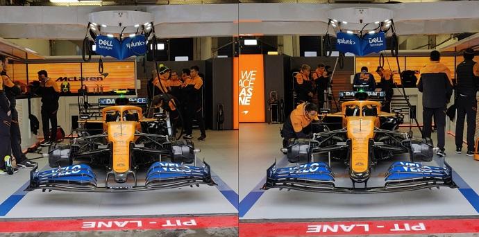 Sainz equipa en su McLaren mejoras aerodinámicas, incluido un morro estilo Mercedes