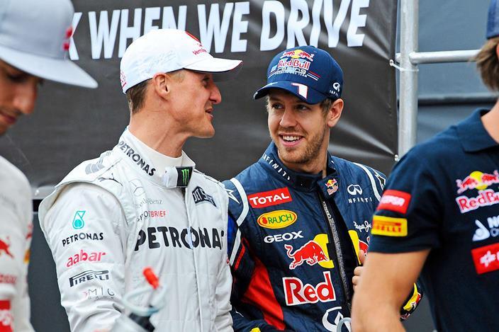 Vettel reafirma la superioridad de Schumacher a pesar de los logros de Hamilton