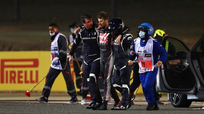 Domingo en Baréin – Haas: Grosjean, sin consecuencias graves tras su dramático accidente