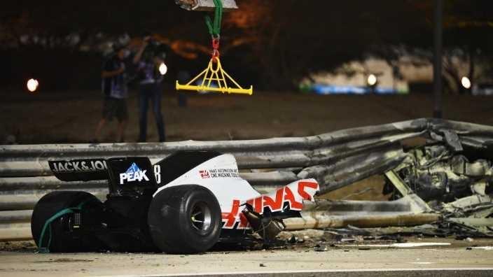 Las dos caras del accidente de Romain Grosjean