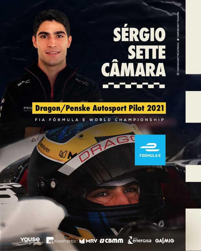 Sérgio Sette Câmara competirá para DRAGON/PENSKE AUTOSPORT