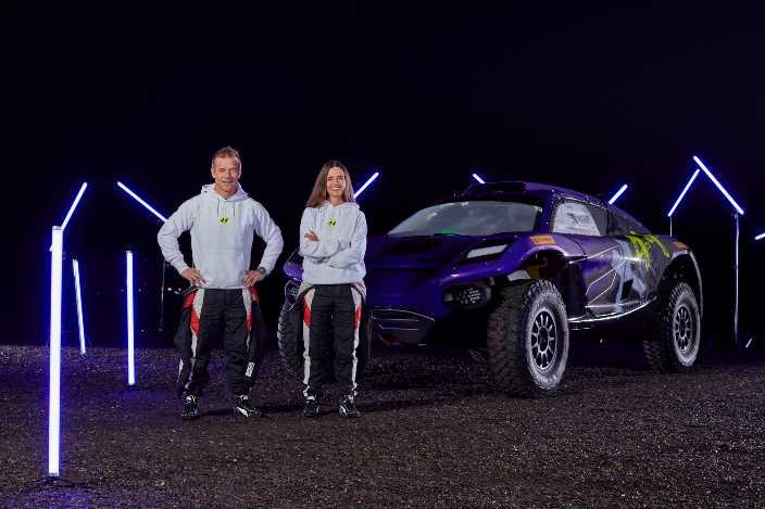 Sébastien Loeb y Cristina Gutiérrez, la dupla del equipo de Hamilton para Extreme E