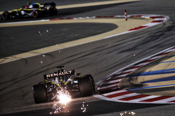 Sábado en Sakhir - Renault solo consigue entrar en Q3 con Ricciardo