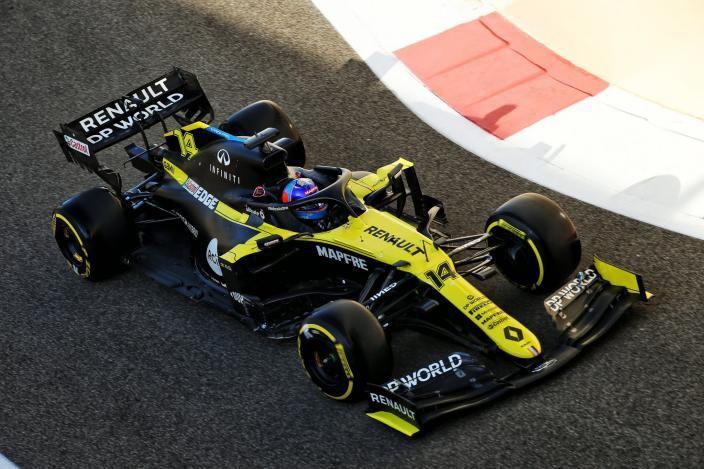 Alonso, contento y motivado tras su test en Abu Dabi