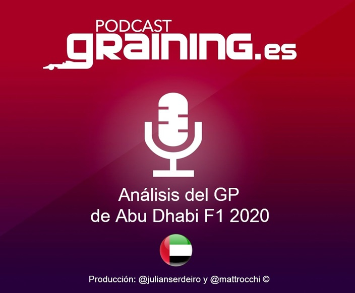 Podcast Graining Media F1 No. 59 con el análisis del GP de Abu Dabi 2020