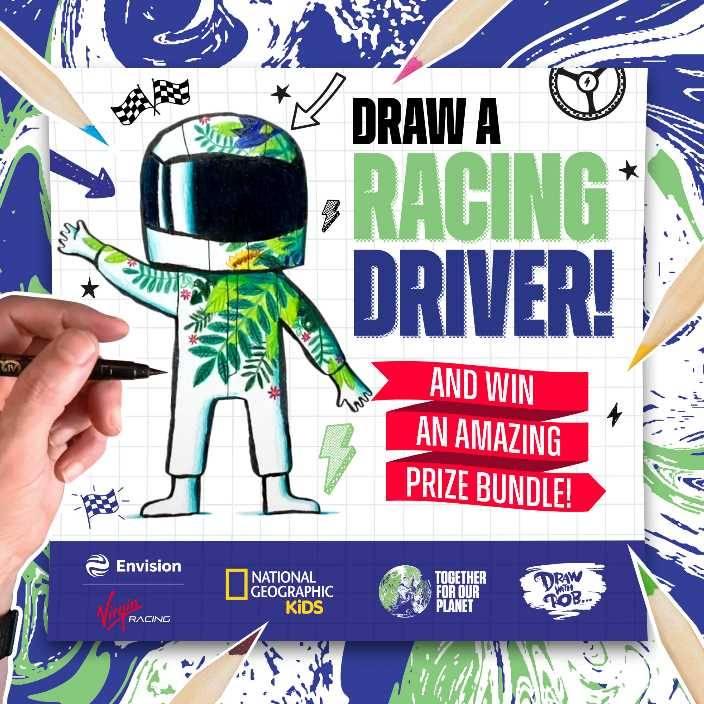 ¡Niños! A diseñar monos ecológicos para los pilotos de Envision Virgin Racing de Fórmula E