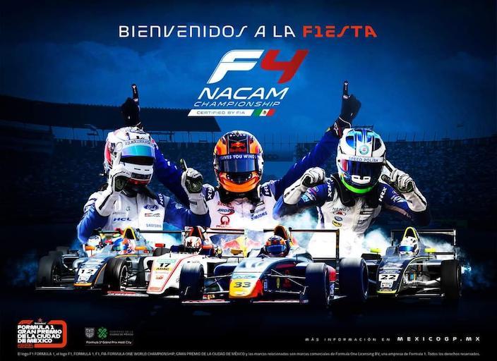 La FIA F4 NACAM confirmada como categoría de soporte del GP de México 2021