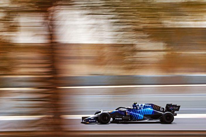 Test F1 2021: Día 2 - Williams supera las 130 vueltas con Latifi