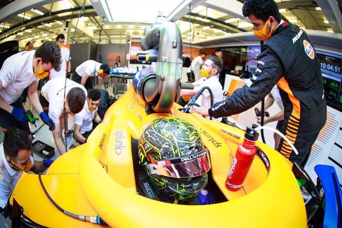 Test F1 2021: Día 3 – McLaren, en un oasis de datos