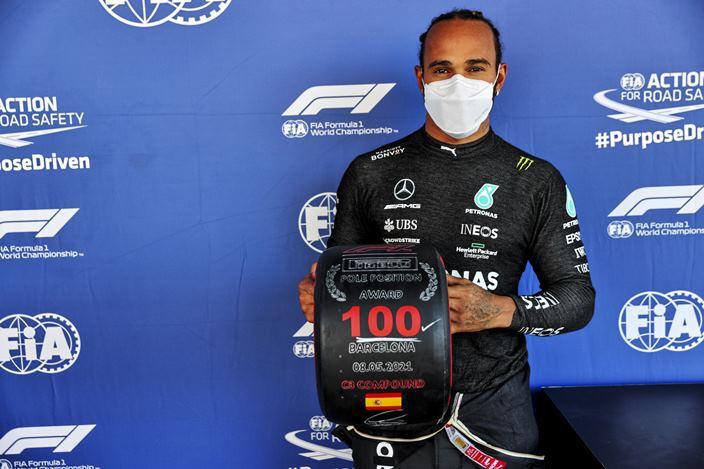 Sábado en España - Mercedes le da la pole número 100 a Hamilton