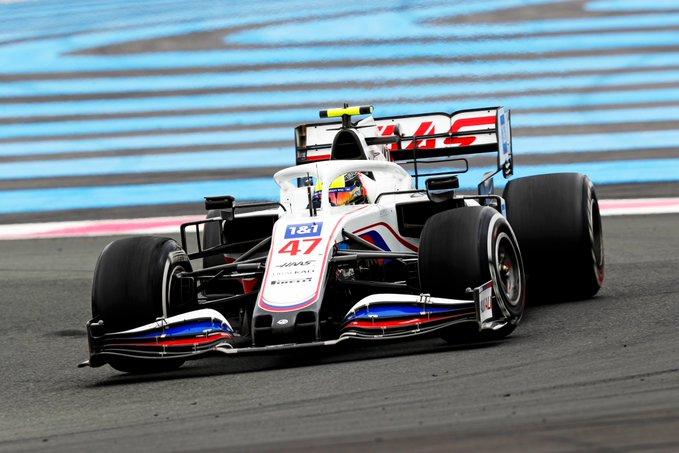 Domingo en Francia Haas hacia abajo en Paul Ricard