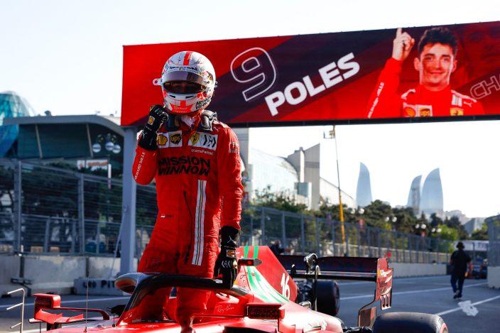 Sábado en Azerbaiyán - Ferrari y Leclerc vuelven a la pole; Sainz 5º