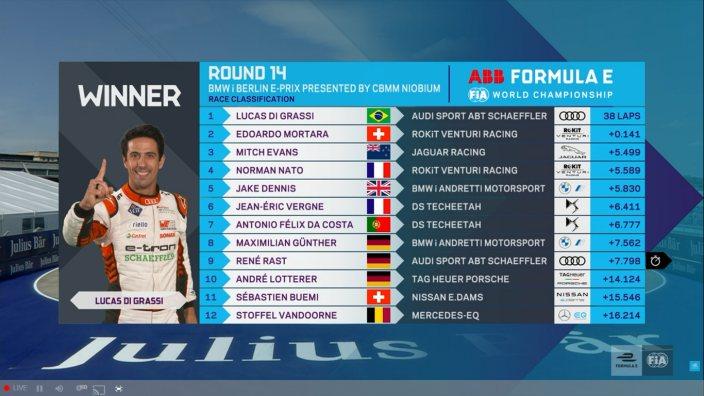 Lucas Di Grassi triunfa en la carrera 14 en Tempelhof
