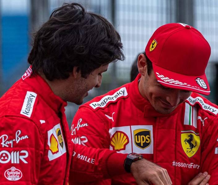"""Leclerc, sobre su primer año con Sainz: """"Está yendo muy bien"""""""