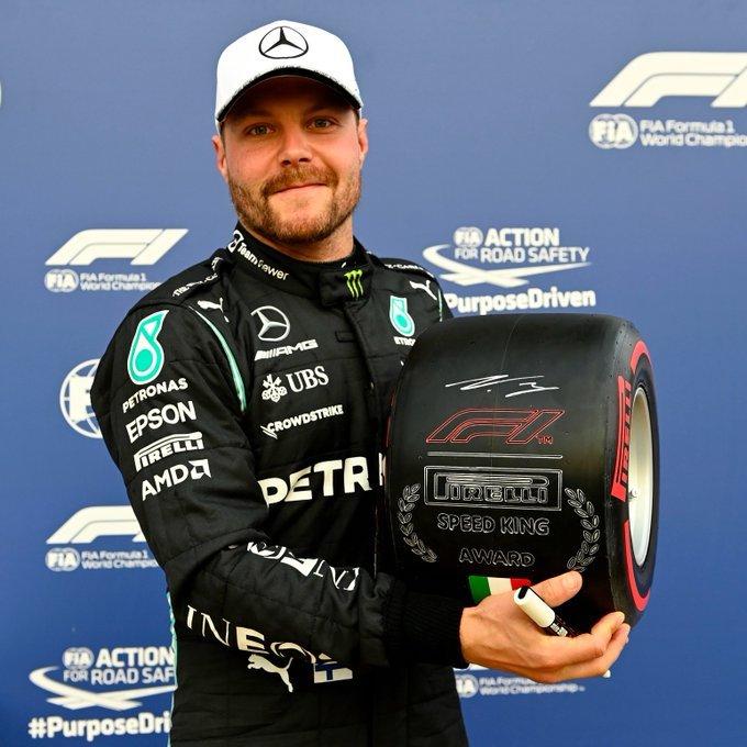 Viernes en Italia – Mercedes: Bottas la rompe en Monza y se queda con el premio Pirelli Speed King